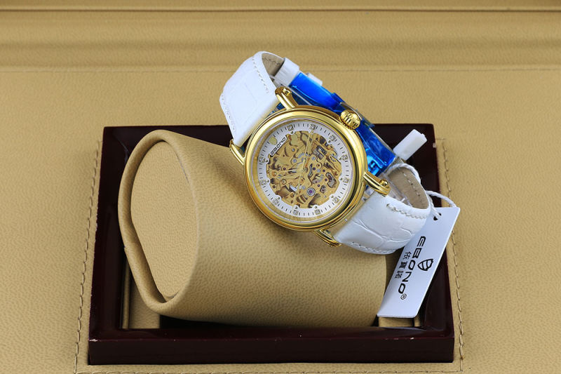 Fashion Diamond Skeleton Automatic Ladies Wrist Watch