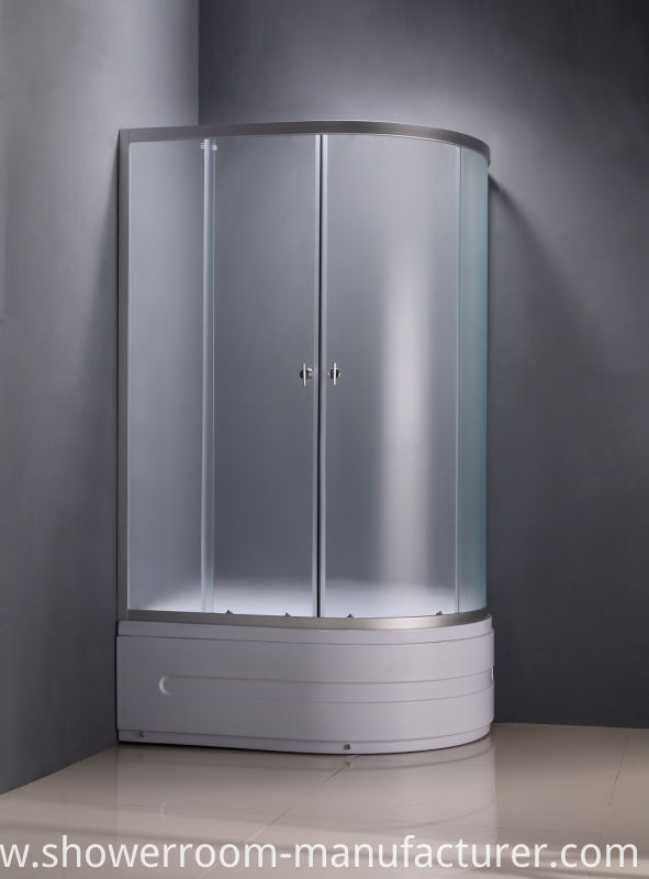 Square Low Tray Clear Glass Shower Cubicle (ADL-8037)