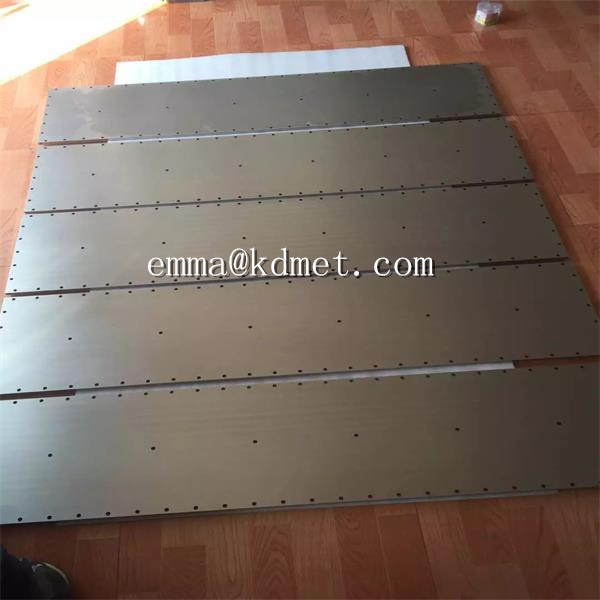 Tungsten Sheet (Purity: 99.95%Min) /Pure Tungsten Plates