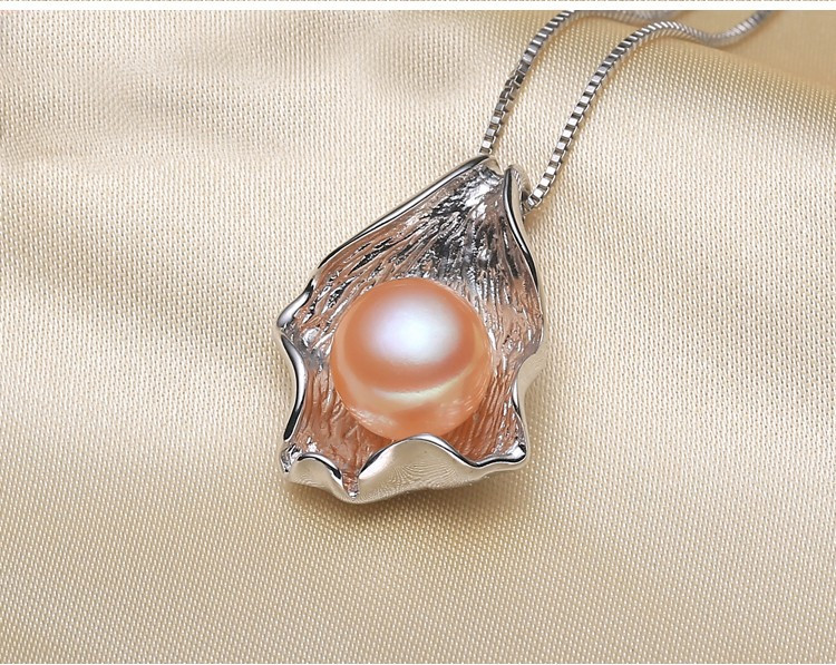 AAA 10-11mm Button Pearl Pendant Jewelry 3 Colors Freshwater Pearl Pendant