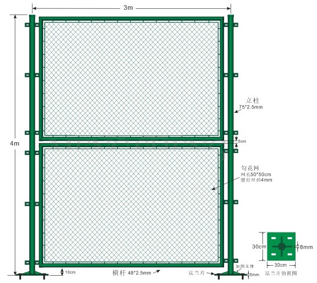Manufacture High Quality Galvanized Chain Link Fence, PVC Coated Chain Link Fence