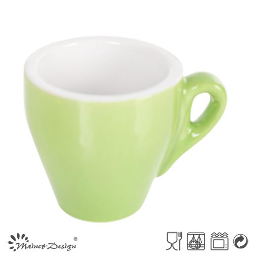 3oz Coffee Cup Two Tone Glaze Design