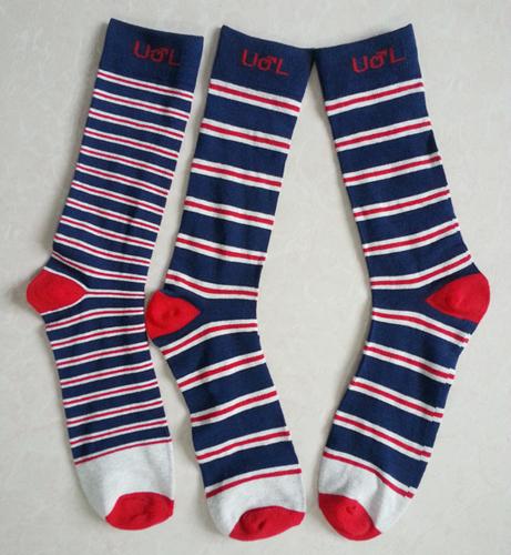 Multiple Stripes Cotton Man Trouser Socks with Custom Logo