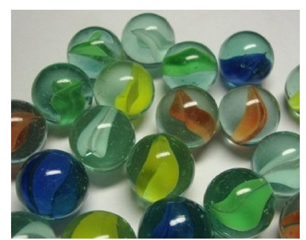 16-35 mm Diameter Transparent Solid Hoodles. Single Marbles Toy Beads
