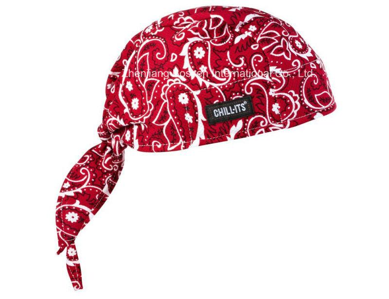 OEM Produce Paisley Cotton Biker Sports Doo Rag Red Paisley Bandana Headwrap Cycling Head Scarf