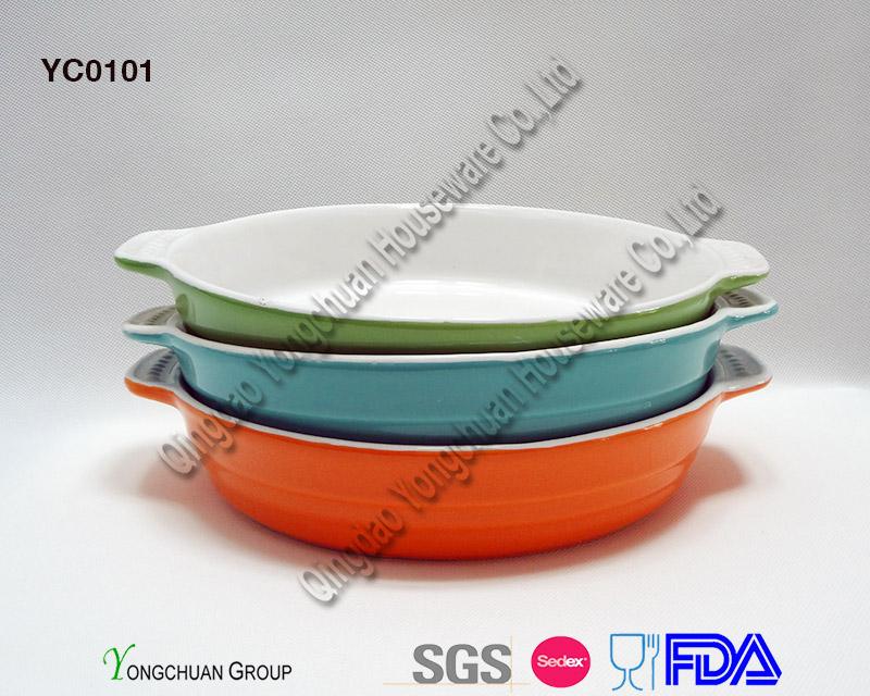 Stoneware White Casserole on Promotion- Oven Safe