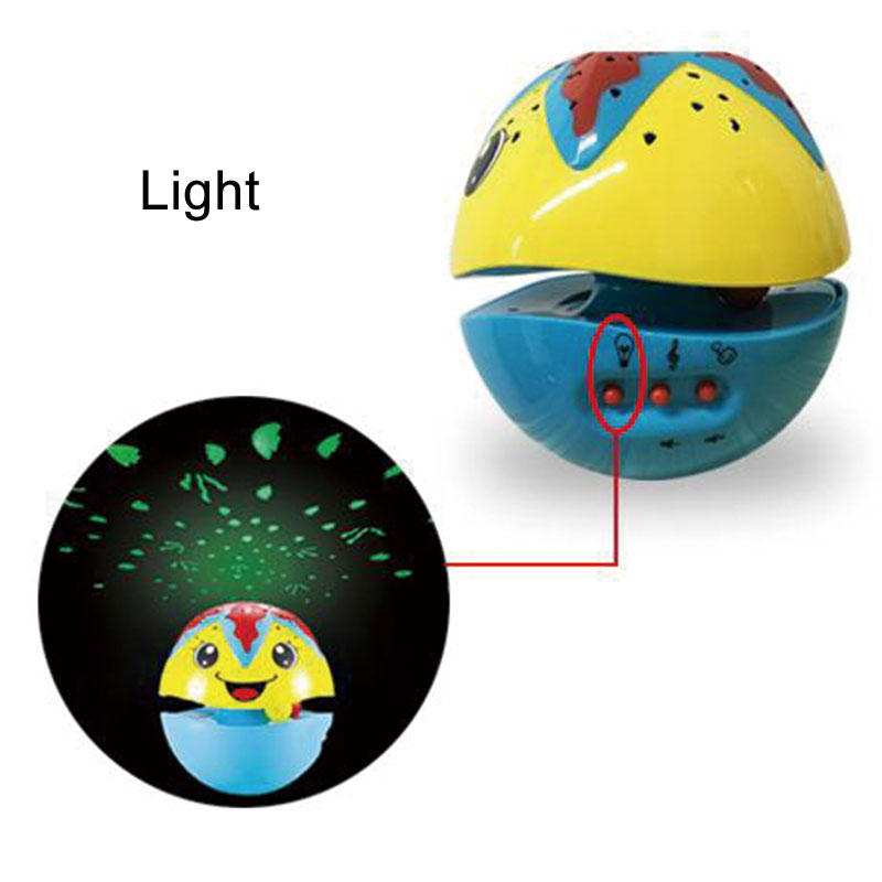 Gift Light Projection Music Tumbler Educational Toy