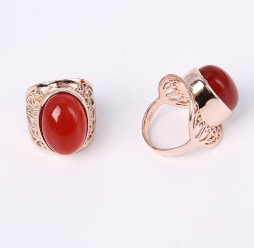 Rose Flower Design Ring Tri-Tone Finish