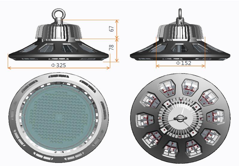 3030 LED UL TUV Certificated Driver UFO LED High Bay Light