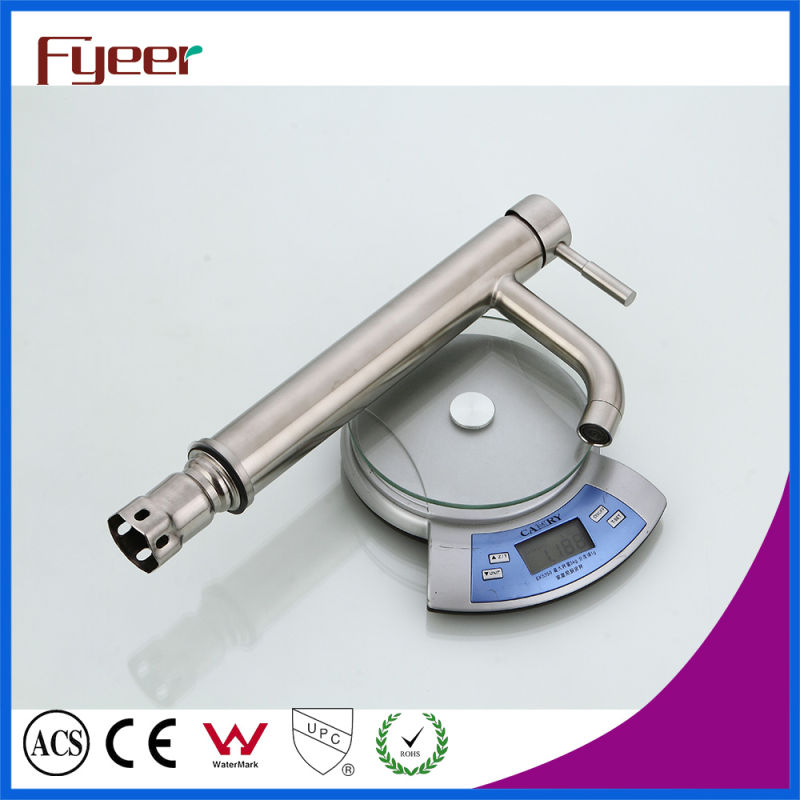 Fyeer High Body 304 Stainless Steel Bathroom Vessel Faucet