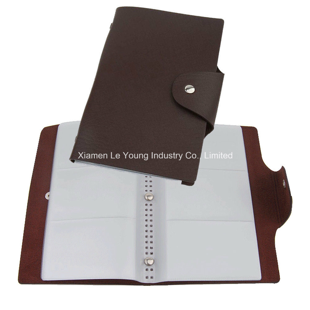 Multi PU Leather Name Card File Holder