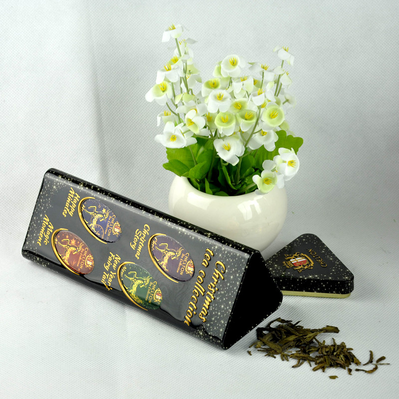 Custom Metal Tea Gift Tin Box, Metal Tea Can, Square Tin Can