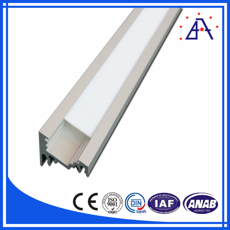 6063-T5 Anodized White Round Aluminum LED Profile