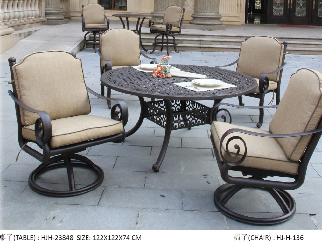 Europe Style Cast Aluminum Patio Furniture Outdoor Dining Table