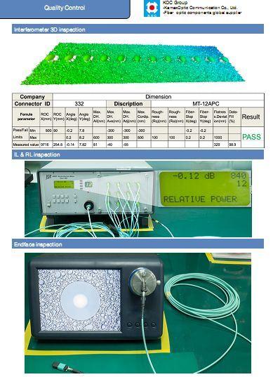 MPO-MPO Om3 Optic Fiber Cable