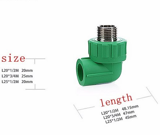 Green Color PPR Pipe Water Fitting