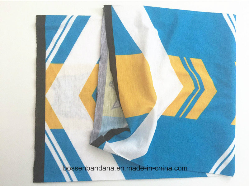 OEM Produce Customized Logo Printed Polyester Microfiber Seamless Multifunctional Headwear Tube Buff