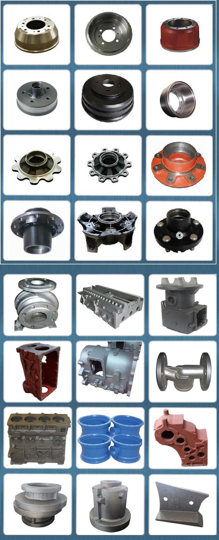 Wheel Axle Hub of Truck Parts, Comes in Gray Iron and Ductile Iron, Used in BPW, Daf