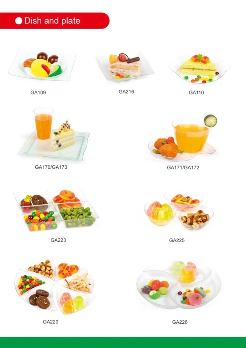 PS/PP Disposable Plate Plastic Tray Dinner Ware
