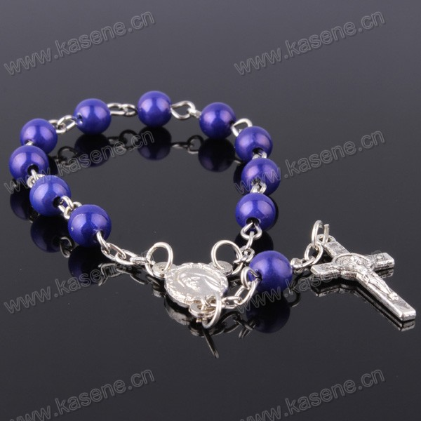 Wholesale Mixed Colour Dream Plastic Bead Rosary Bracelet
