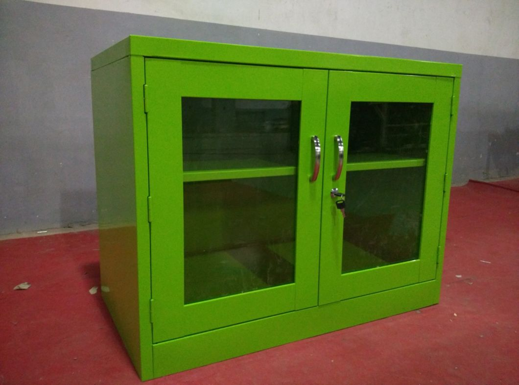 Hot Sale Kd Construction Double Glass Door Office Equipment
