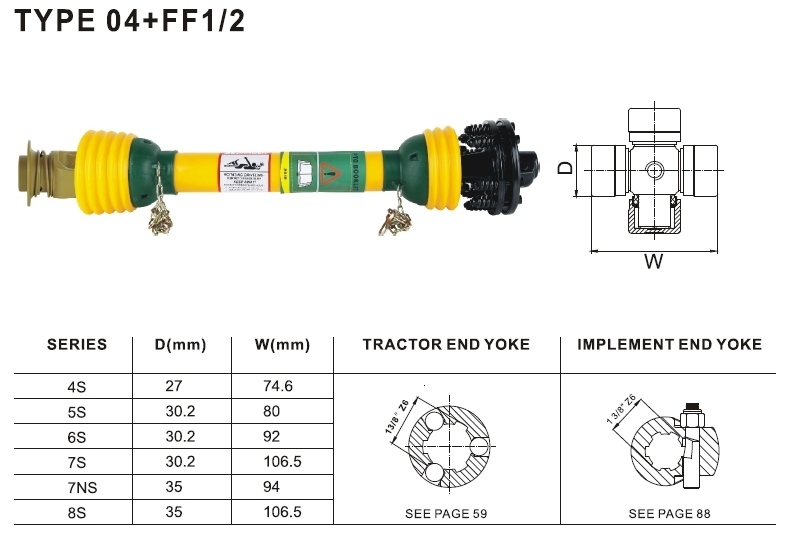 Pto Shaft 04+FF1/2 for Agriculture Machinery