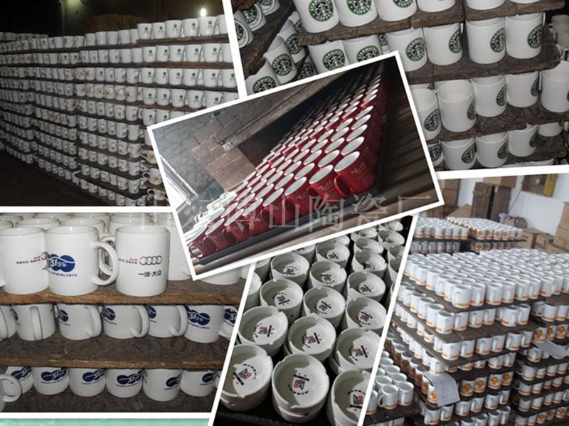 Custom Mug Printed Black Red Ceramic Cup for Drink