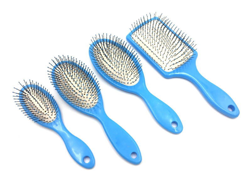 Tourmaline Paddle Cushion Wet Brush with Tourmaline Infused and Soft Nylon Bristle