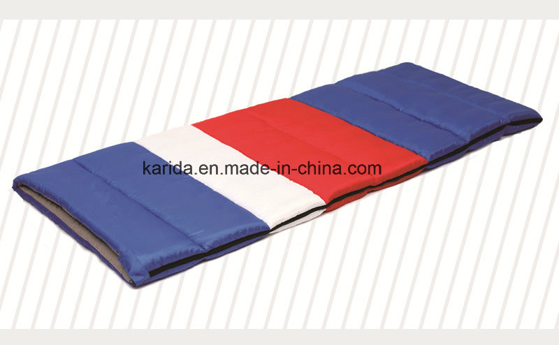 Polyester Mixed Color Camping Envelop Sleeping Bag
