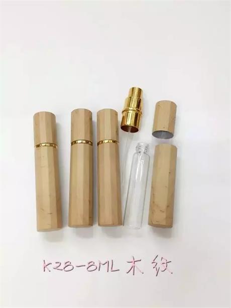 New Design Wood Grain Perfume Glass Bottles for Fragrance, Cosmetic Glass Bottles