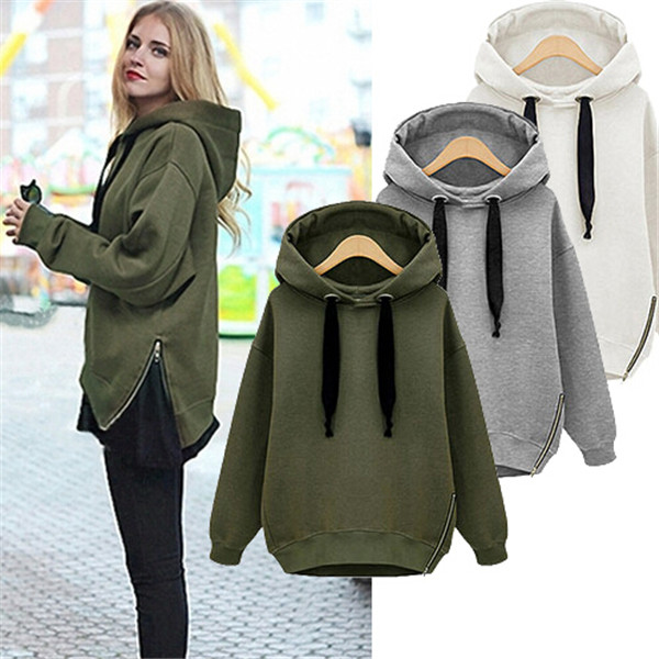 Autumn Winter Women Casual Jacket Thick Warm Pullover Hoodies