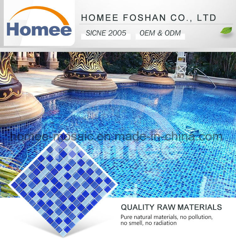 Popular Waterproof Glossy Swimming Pool Mosaic Tile