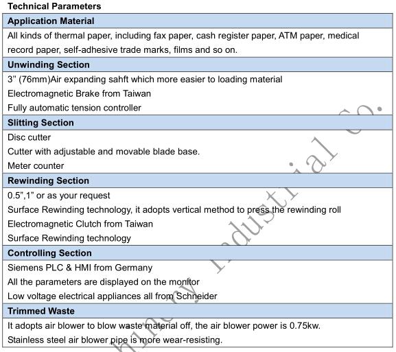 POS Paper Slitter Rewinder Machinery ECG Paper Slitting Machine