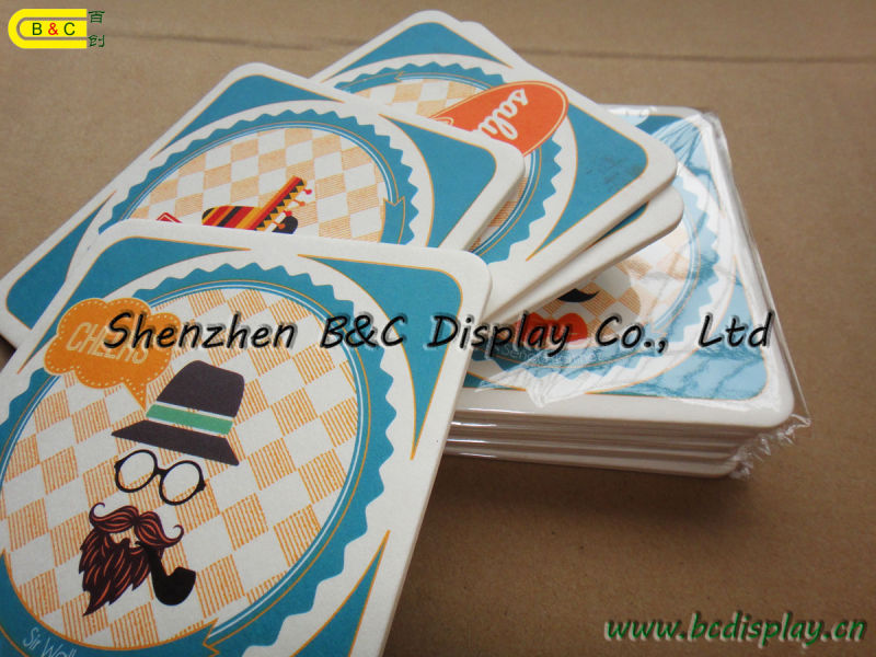 High Quality Absorbed Paper Coaster 2mm Thickness with Double Face 4c Printing with SGS (B&C-G097)