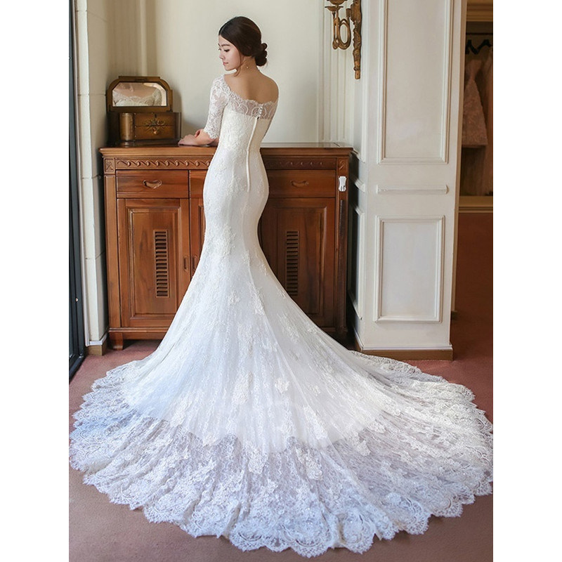 Click for More Models Butterfly Mermaid Ball-Gown Wedding Dress (Dream-100085)