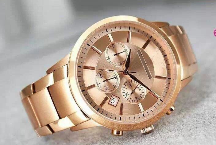 Classic Gold Chronograph Rose Gold Strip Business Nouveau Riche Luxury Fashion Three Eye Chronograph Quartz Men's Watch