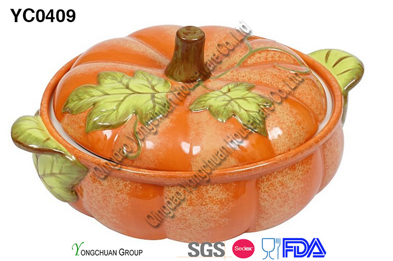 Pumpkin Casserole with Lid for Wholesale