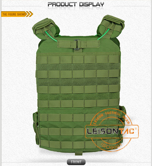 Tactical Plate Carrier Adopts The Most Durable Fabric (1000D Nylon) with Excellent Sewing Technics