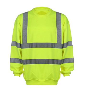 100% Polyester Fleece   Reflective   Sweatshirt with Eniso 20471