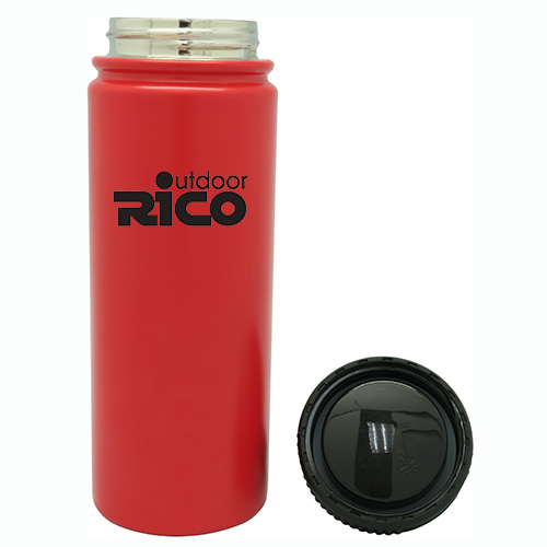 Durable Stainless Steel Vacuum Sports Bottle Red 18oz