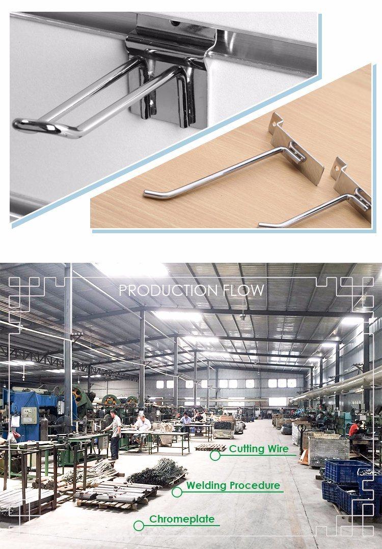 Chrome Metal J Shape Display Hook for Hanging Bag
