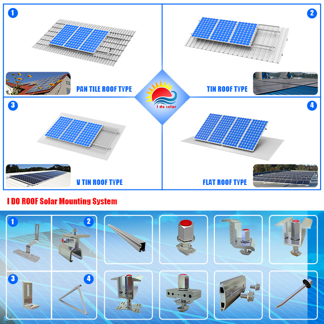 New Design Adjustable Aluminum Alloy Solar Power Kits (401-0004)