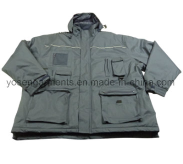 Adult's Adults Padded Padding Warm Waterproof Polyester Winter Woven Jacket Parka (IC17)