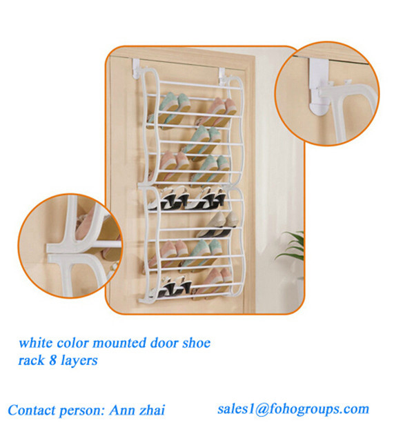 8 Layer Behind Door Plastic Storage Hanging Shoe Organizer