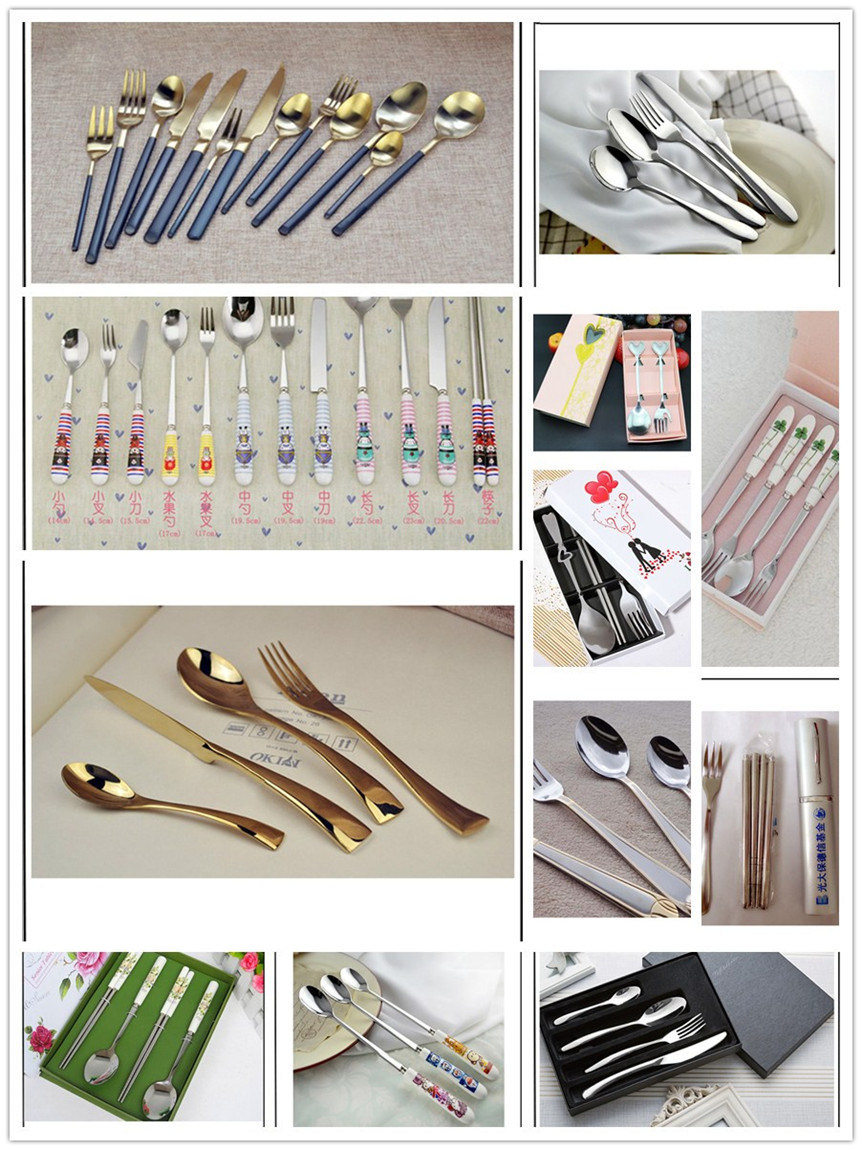 Stainless Steel Fork and Spoon and Chopstick Set