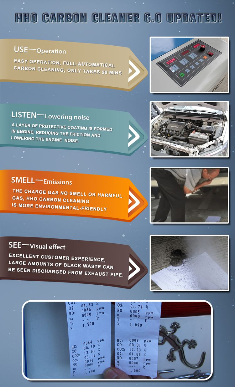 Carbon Cleaning Equipment for Auto Car