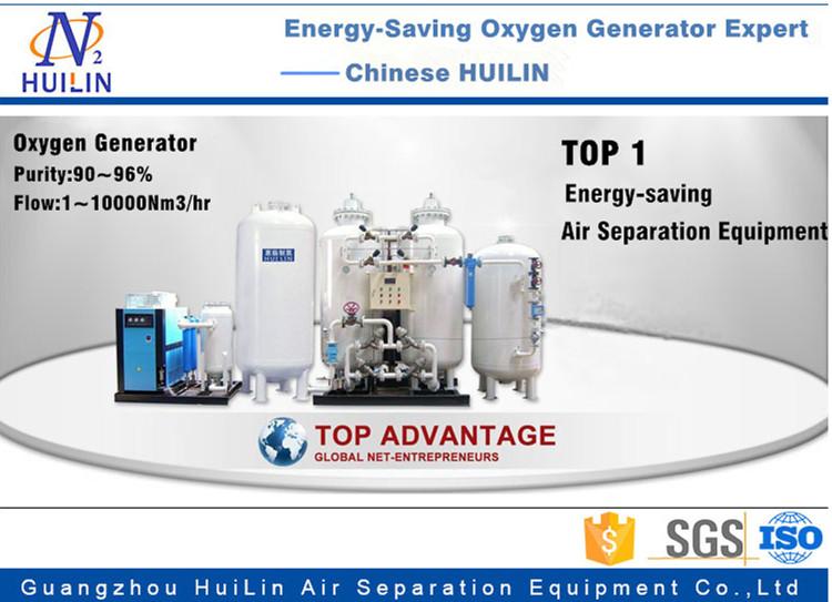 Energy-Saving Psa Oxygen Generator Purify90%-96%