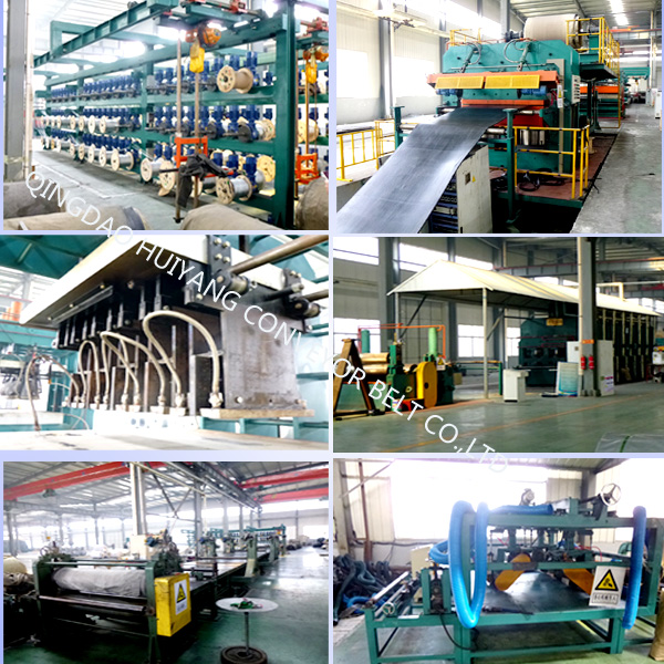 Types Chevron Rubber Conveyor Belt for Steep Inclined Materials Conveying