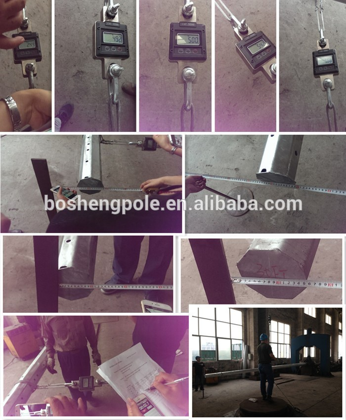 Polygonal Galvanized Electric Steel Pole