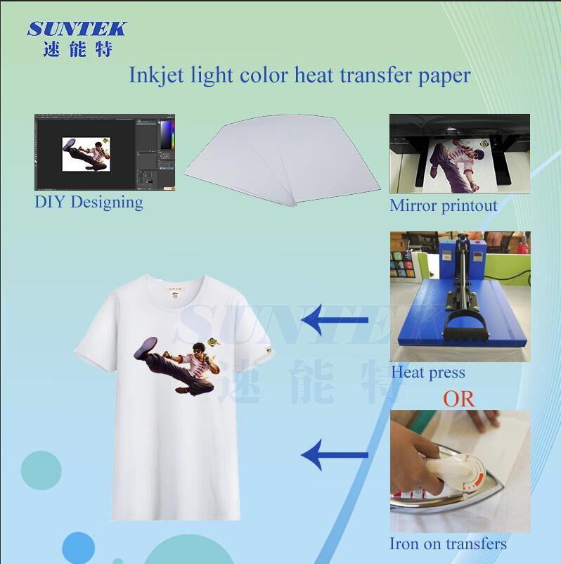 Wholesale A4 Light Color Heat Press Transfer Paper (STC-T02)